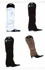 Girls Women Snow Warm Thick Fashion Woollen Boot Leg Ankle Long Sleeve Cover