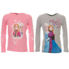 Girls Authentic Disney's Frozen Queen Elsa Princess Anna Long Sleeve T-Shirt Top