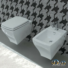 Sanitari jazz sospesi VASO+BIDET+COPRIVASO sedile soft close