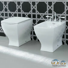 Sanitari Filoparete JAZZ wc VASO+BIDET+COPRIVASO anche soft close