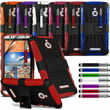 Tough Shockproof Dual Layer Heavy Duty Case Cover & Stand For HTC Desire 510