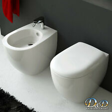 Sanitari Filoparete FILE wc VASO+BIDET+COPRIVASO anche soft close