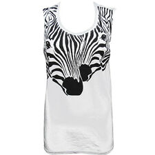 OFFICIAL Zoo Project Ibiza: Zebra print Womens Vest Tank top Black White RRP £45