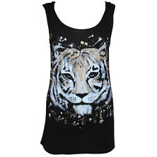 OFFICIAL Zoo Project Ibiza: Tiger print Hooded Open-back Dress BLK/WHT RRP £75