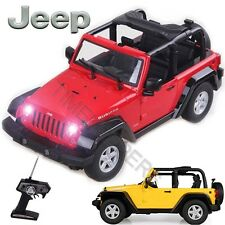 1:9 Escala Jeep Rubicon Recargable Radiocontrolado RC Eléctrico Off-Road Coche