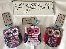 SASS AND BELLE VINTAGE APPLIQUE STYLE CLASP COIN OWL PURSE WALLET NEW GIFT
