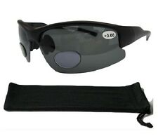 Bifocal Polarised Sunglasses Wrap Around Cycling 100% UV Sun Readers Black 164