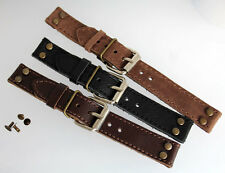 LEDERBAND 20mm für festen Stegen PILOT WW STYLE CHRONO HANHART HEUER WATCH BAND