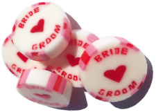 Red & Pink BRIDE and GROOM Wedding Favour Rock Sweet Raspberry Ripple Ice Cream
