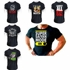BODYBUILDING top TSHIRT Gym Men Training Muscle Power Fitness S-XL SIZES SUPER