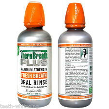 TheraBreath PLUS Oral Rinse - Maximum Strength For Bad Breath & Halitosis