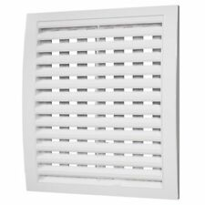 White Air Vent Grille Ducting Ventilation Cover Wall Louvre Adjustable Grid