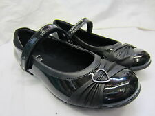 SALE Clarks 'Dolly Heart' Girls Black Patent Leather School Shoes