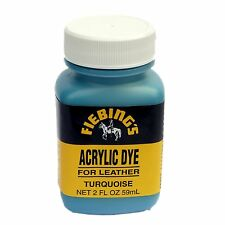 FIEBINGS ACRYLIC DYE FOR LEATHER - 2OZ / 59ML - PERMANENT STAINING DYE