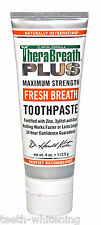 TheraBreath PLUS Toothpaste - Maximum Strength For Bad Breath & Halitosis