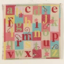 Dolls House Miniature 1/12th Scale ABC Rug /Blanket Blue or Pink 7x7cms Square