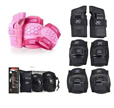 Childrens Kids Junior Protective Safety 6 Pc Pads Set Elbow Knee Wrist Skate BMX
