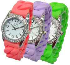 AN London Ladies Stone Set Dial & Silicon Jelly Expandable Bracelet Watch-AN695