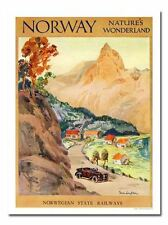 Norway 1920s Rail Travel Classic Poster Print New