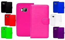 New Magnetic Flip Book Wallet Card Holder Pu Leather Case Cover For HTC One M9