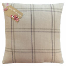 """Designer Laura Ashley Corby Check Amethyst  fabric Cushion Cover size 10"""" to 24"""""""