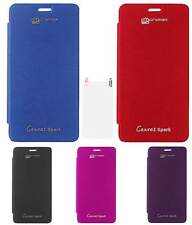 TBZ Flip Cover Case for Micromax Canvas Spark Q380 with Screen Guard opt