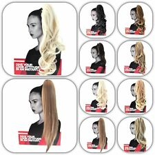 Stranded Ponytail Hair Piece Extension Long curly Wavy & Straight  All Colours