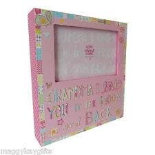 Pink GRANDMA I Love you to the Moon & Back Photoframe -  4 x 6 Photo Frame