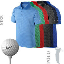 NIKE NK214 Mens Dri-Fit Victory Stripe Golf Polo Shirt (7 Cols) - SALE
