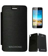 Flip Cover Case for Karbonn Machone with Screen Guard opt