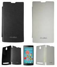 Flip Cover Case for Lava Iris Alfa L with Screen/Data Cable opt