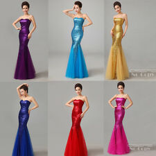Sexy Fishtail Evening Formal Party Wedding Prom Dress Ball Gowns Custom