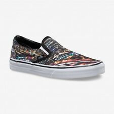 VANS CLASSIC SLIP ON SHOES CITY BLACK TRUE WHITE UNISEX TRAINERS