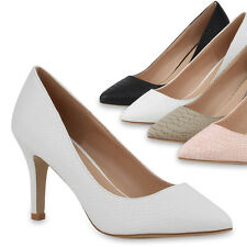 Elegante Spitze Damen Pumps Pointy High Heels Pastell Schuhe 76860 Trendy