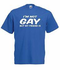 IM NOT GAY BUT MY FRIEND IS funny xmas birthday gift idea mens womens TSHIRT TOP