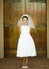 Classic Pearl Pleated Holy First Communion Flower Girl Dress Wedding Bridesmaid