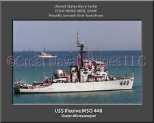 USS Constant AM 427 Personalized Canvas Ship Photo Print Navy Veteran Gift