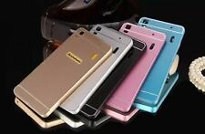 Luxury Aluminum Metal Frame Bumper Acrylic Back Cover Case For Lenovo A7000