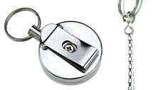 Recoil Spring Retractable 450mm Chain Key Ring With Belt Clip