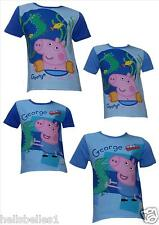 "BOY'S FULLY LICENCE""PEPPA PIG'S GEORGE"" SHORT SLEEVE T SHIRT 18-24M 2 3 4 5 6Y"