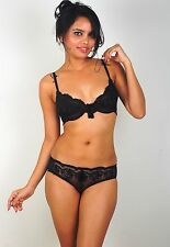 Stylish And Sexy Non-Padded Bra Panty Lingerie Set - Imported - 34B, C, 36 B, C