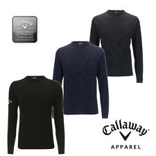 Callaway Golf Mens Crew Neck / Round Neck-100% Lambswool Sweater / Jumper -New