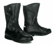 RICHA TOURING AQUA 2 WATERPROOF MOTORBIKE LEATHER MOTORCYCLE BOOTS - BLACK