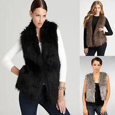 Faux Fur Sleeveless Vest Waistcoat Gilet Wrap Shrug Jacket Coat Body Warmer
