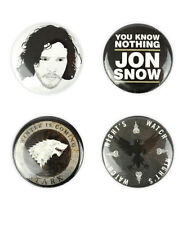 Jon Snow Buttons! House Stark badge, you know nothing, Game Of Thrones, Kitt