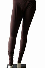 4 Way Viscose Lycra Brown Legging For Kurtis, Tunics & Long Tops DC01