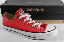 CONVERSE ALL STAR Chaussures à lacets baskets rouge, textile/ lin, m9696c NEUF