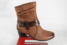 Marco Tozzi Boots, Ankle boots, Leather, brown, padded, RV NEW