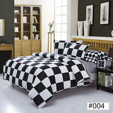 White Lattice NEW Single King Single Double Queen Size Bed Quilt Duvet Cover