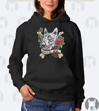 *NEW* Womens English Bull Terrier Hoodie - Bullie Ink Tattoo Style